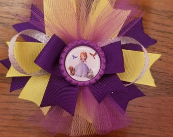 Sophia the First boutique stacked hairbow