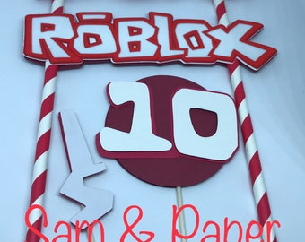 Roblox cake topper | Etsy
