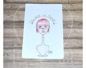 Kraftling 'Domestic violence' original sketch
