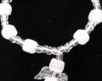 Angel onyx stone bracelet