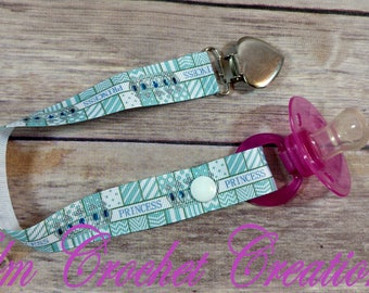 Blue Crown Princess Basic Pacifier Clip - ABDL/DDLG/Age Play - Ready to Ship!