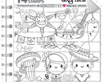 80%OFF - Mexico Stamp, Commercial Use, Digi Stamp, Digital Image, Mexico Digistamp, Mexican Party, Mexican Stamps, Mexican Clipart, Kawaii