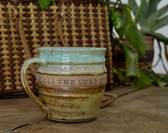 Hand-thrown Stoneware Verse Mug