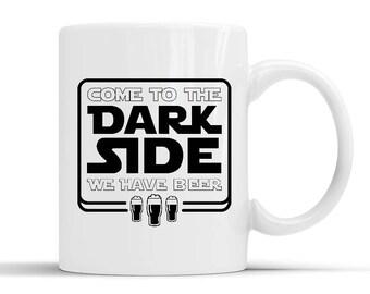New Designer Come to the Dark Side We have Beer Mug
