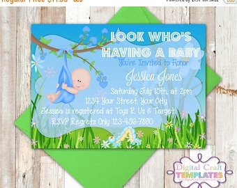 SALE Personalized Printable Invitations | Baby Boy | Look Who's Having a Baby | Baby Shower |  #144