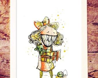 Little monster | Christmas | gifts | Childhood | Art illustration print | Lgbtq pride | Nille Illustrations