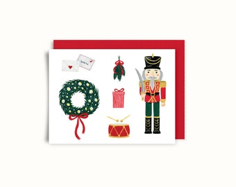 Greeting card - soldier Nutcracker