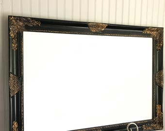 Black and Gold, Memo Board, Magnetic, White Board, Note Organizer, Office Organizer, Office Decor, Childrens Room, Wedding Sign