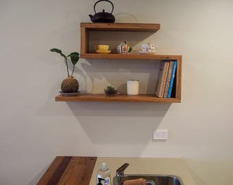 Spotted gum Recycled S-shaped shelf