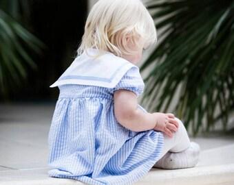 Girls sailor dress, sailor dress, Nautical dress, christening dress, summer dresses, boutique girls dress, flower girl dress, first birthday