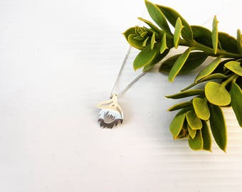 Mini King Protea Sterling Silver Necklace