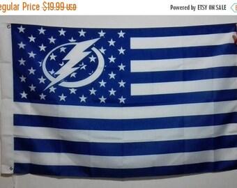 PRE-SEASON SALE 30% Off Tampa Bay Lightning, Lightning Nation Flag or Banner 3' x 5'