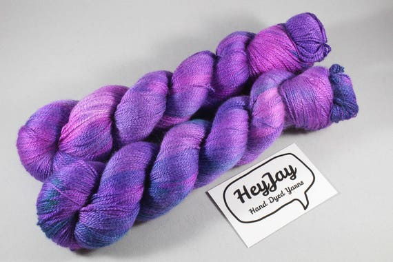 Hand Dyed Lace Merino/Silk Yarn - Satin