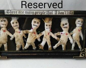 People I do not like-art box-shadow box-wall hanging-voodoo-witchcraft-macabre-decoration-hoodoo-original gift-OOAK-bizarre-strange doll