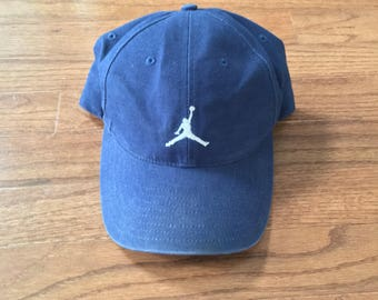 Vintage Nike Air Jordan Leather Strapback Dad Hat
