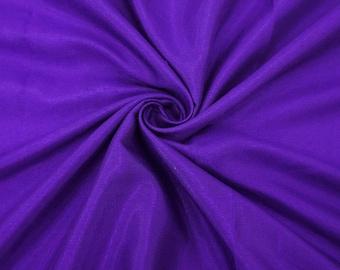 "Purple Shantung Fabric, Silk Dupioni, Decor Fabric, Purple Fabric, 43"" Inch Wide Fabric By The Yard ZSH2A"