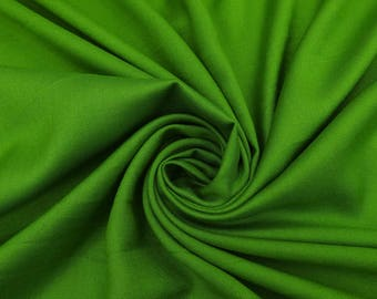 "Indian Rayon Fabric, Quilt Material, Green Fabric, Home Decoration, Apparel Fabric, 42"" Inch Fabric By The Yard PZBR6E"