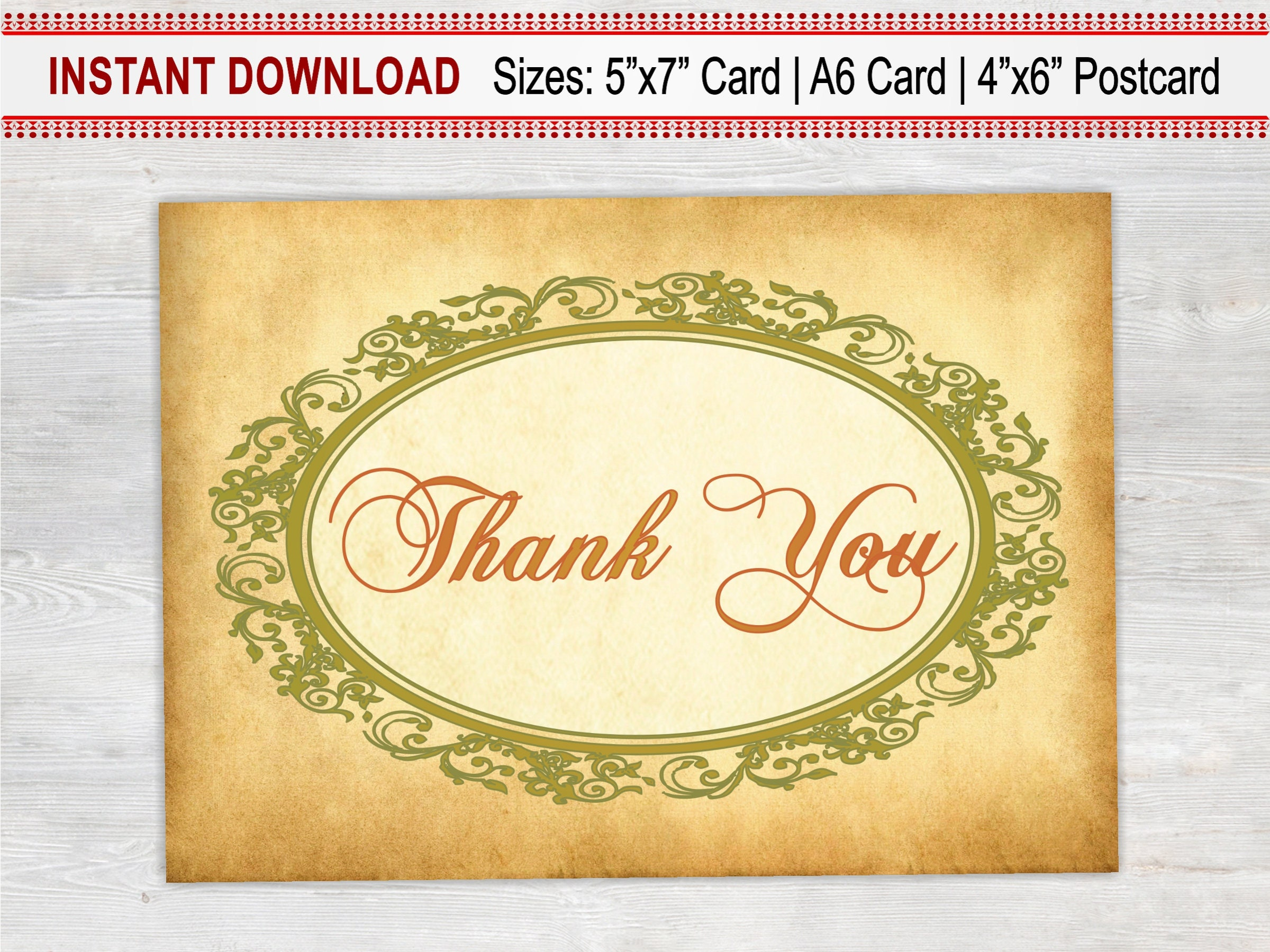 Thank You Card Printable Rustic Card Thank You Boss Bridesmaid
