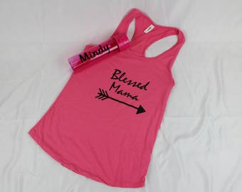 New Mom Gift-Hospital Baby Gift-Welcome new baby- baby shower-gift set-Monogrammed Bottle/Blessed Mama Tank Set