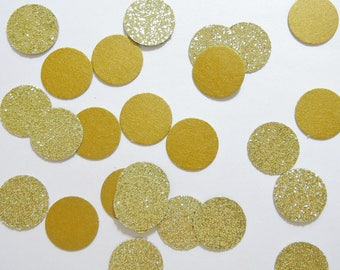 Gold wedding decor party Table confetti - Glitter gold confetti