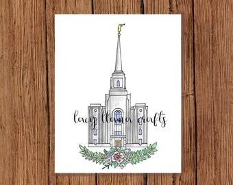 Brigham City Utah Temple Print 8x10