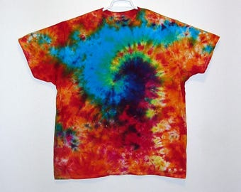 Premade 2X Large Adult Tie Dye T Shirt Cotton Crew Neck