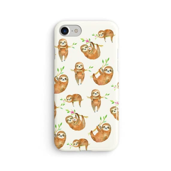 Sloths everywhere watercolor - iPhone 7 case, samsung s7 case, iphone 7 plus case, iphone se case 1P054