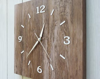 unique modern rustic large wall clockwall decorsilent shabby chic clock