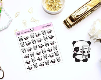 Pookie the Panda: Cellphone // Planner Stickers
