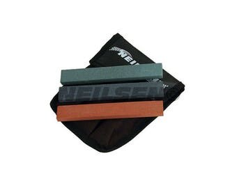 3PC Assorted Grit 120 280 600 Tool Sharpening Stone Set Slipstones In Pouch CT3357