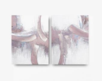 set of 2, Original Art, Coastal decor , wall hanging,custom word art, white , rose , light blue , violet , light pink