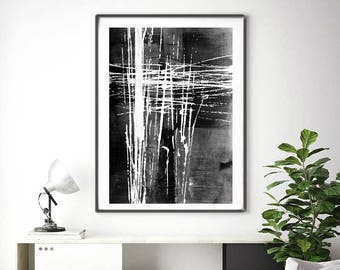 Instant Download, Minimalist Art,Black & White Abstract Art, Minimalist Painting, Oversized Wall Art, Abstract Painting, Large Abstract Art