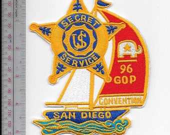 Secret Service USSS California San Diego Presidential GOP Convention 1996 Service Patch