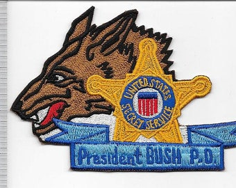 US Secret Service USSS President George H. W. Bush Protective Division Wolf Head Patch