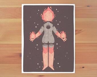 Volcano Girl Print *TWO SIZES*