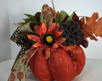 Fabric Filled Decorative Pumpkin