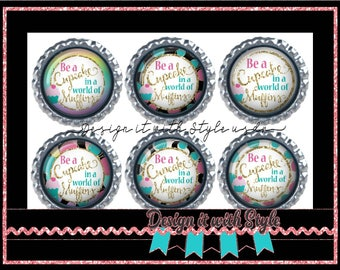 Flat back Buttons, 1.5 Flat back buttons M2M Be a Cupcake