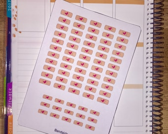 Band Aid Planner Stickers (w/ Mini's!) for use with Erin Condren Life Planner and other planners