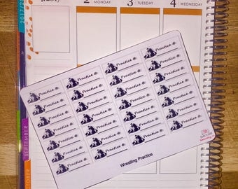 Wrestling Practice Planner Stickers for use with Erin Condren Life Planner and other planners