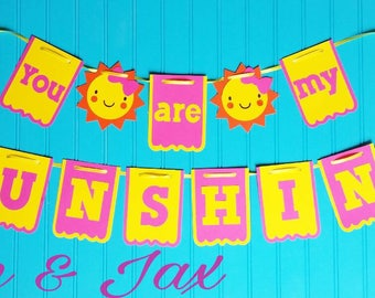 You are my sunshine party themed birthday banner