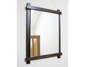 Frame for a mirror Wall mirror Bathroom mirror Mirror in the bathroom Wooden frame Сountry style Loft