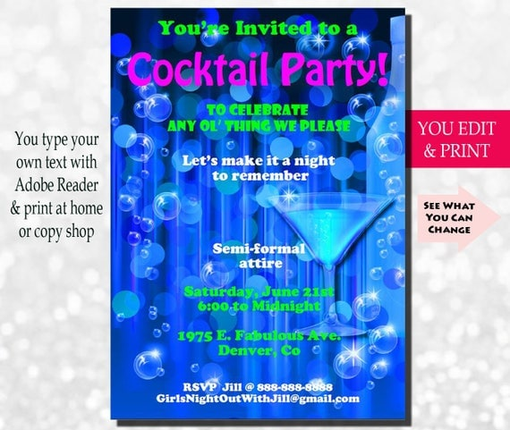 Girls cocktail party invitations porn pictures