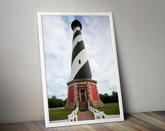 Cape Hatteras Lighthouse Fine Art Photograph 8x12 12x18 NC Travel Photography Outer Banks North Carolina