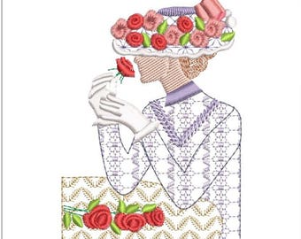 SOUTHERN BELLE machine embroidery download 3 diff sizes ( 3x3.8   4x5  5x6)