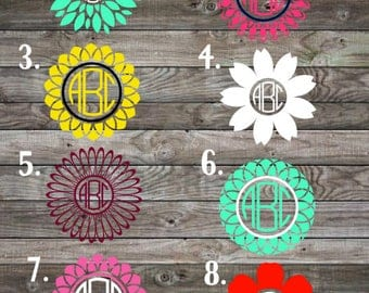 Monogram Car Decal Etsy - Custom car decals nz   how to personalize