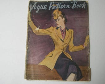 vintage vogue pattern book 1940 fashion illustrations 64 pages
