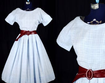 "Vintage 1950s ""There's No Place Like Home"" Dress / xsmall small"