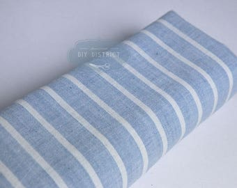 Stripes of blue Japanese cotton fabrics