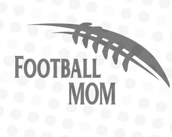 Football Mom SVG - Football Mom - Football Svg - svg files for cricut - svg football - cut file for silhouette - cameo svg - Football Art