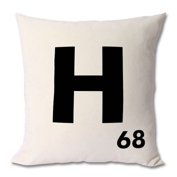 Personalised Scrabble Letter Cushion / Alphabet Cushion. Zipped cover and cushion included